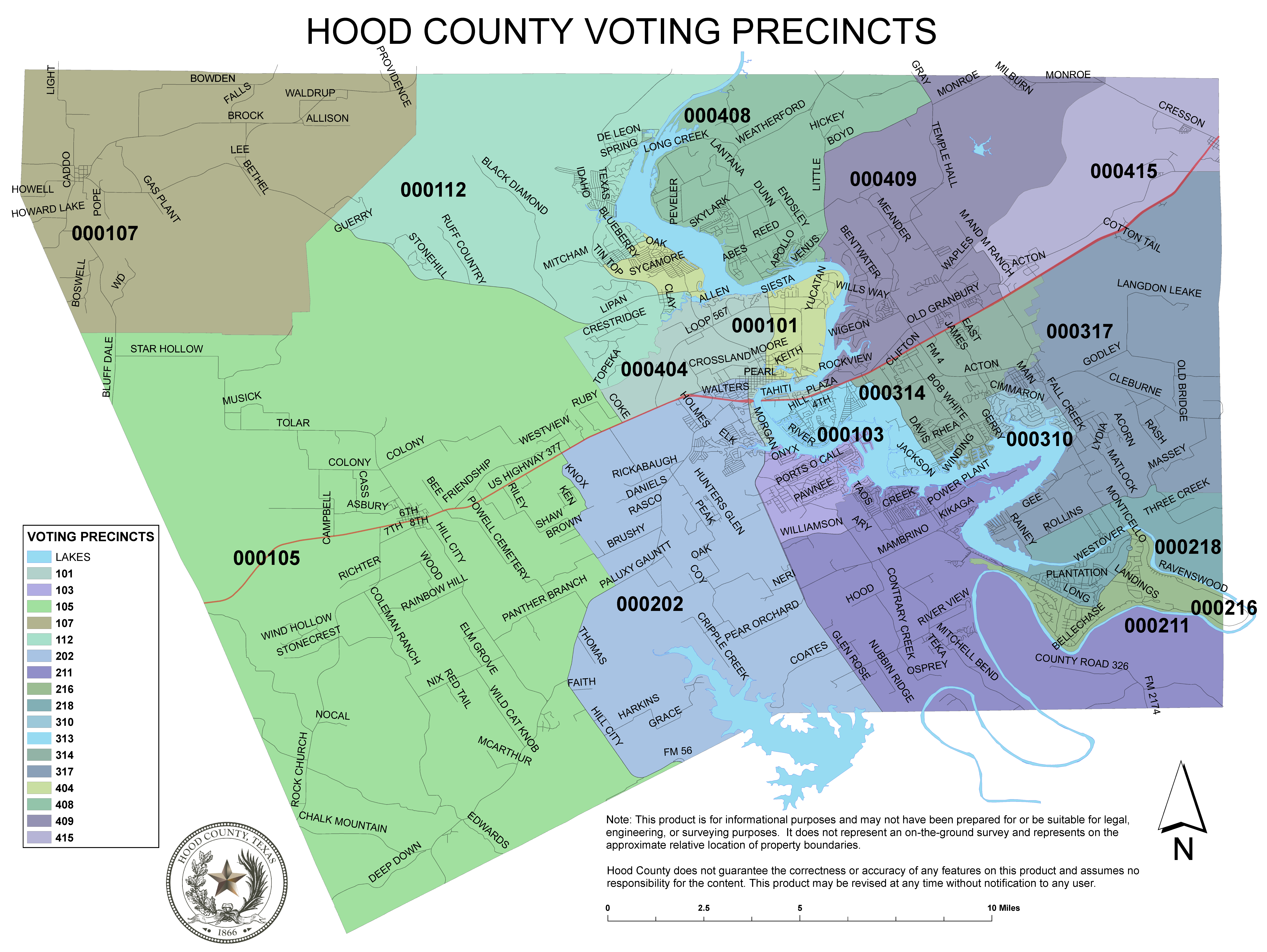 Voting Maps Hood County TX Official Website