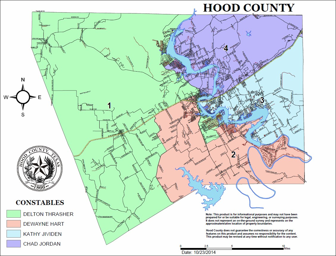 Constables Hood County TX Official Website - Us map without texas
