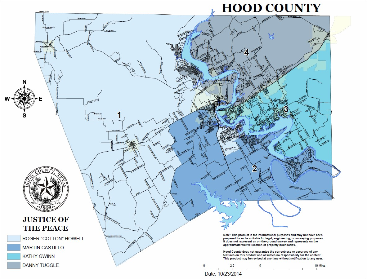 Justices Of The Peace Hood County TX Official Website - Us map without texas